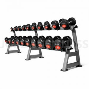 Jordan Classic Rubber Solid End Dumbbell Set With Rack 2.5-25kg